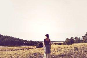 Western Woman on Prairie 2