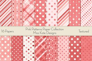 Pink Patterns Paper Pack