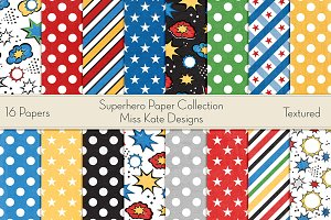 Superhero Digital Paper Pack