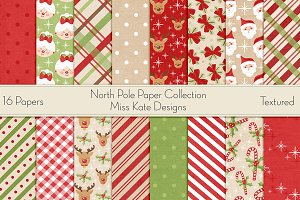 North Pole Digital Paper Pack