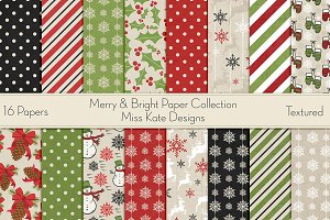 Merry & Bright Digital Paper Pack