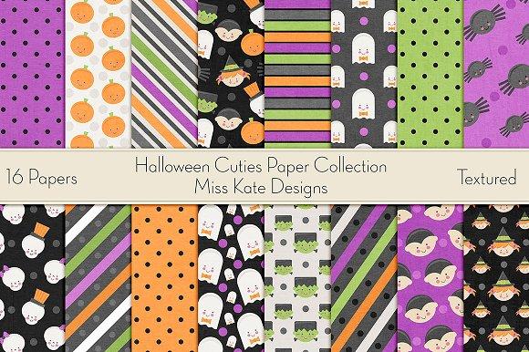 Halloween Cuties Digital Paper Pack