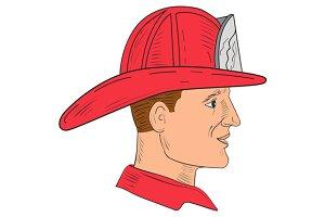 Fireman Firefighter Vintage Helmet