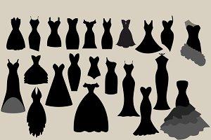 Black Dress Silhouettes