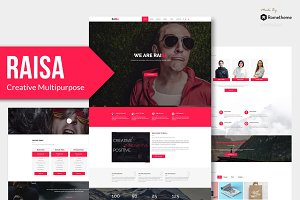 Raisa - Creative Adobe Muse Theme