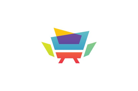 Furniture logo psd cartoon designtube creative design for Chair logo design