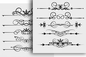 Calligraphy design elements