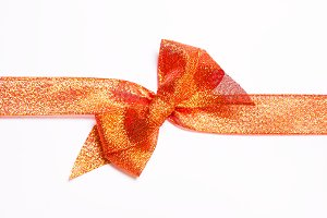 Red golden ribbons