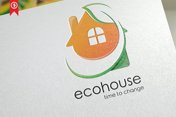 Eco House Building Logo Template