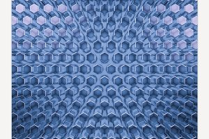 Abstract glass blue background