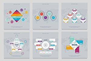 Business infographics modern concept set