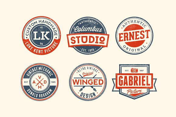 11 Trendy Vintage Badges Volume 3 in Logo Templates - product preview 1