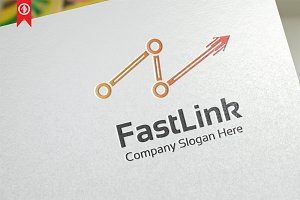 Network / Fast Link - Logo Template