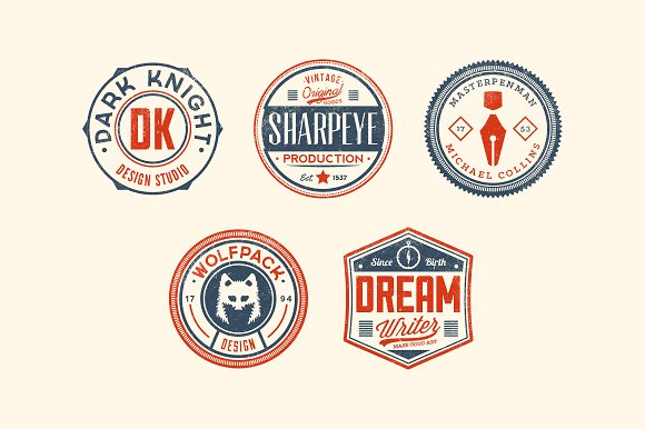 11 Trendy Vintage Badges Volume 3 in Logo Templates - product preview 2