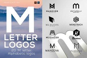 """20 """"M"""" Letter Alphabetic Logos"""