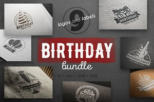 Birhday logo kit