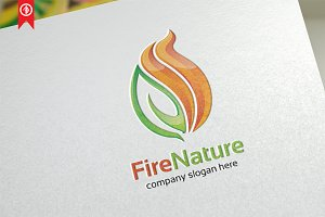 Fire Nature - Logo Template