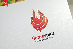 Flame Spirit / Nature - Logo Templat