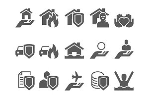 insurance flat icons