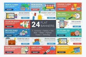 Flat Horizontal Banner (24 template)