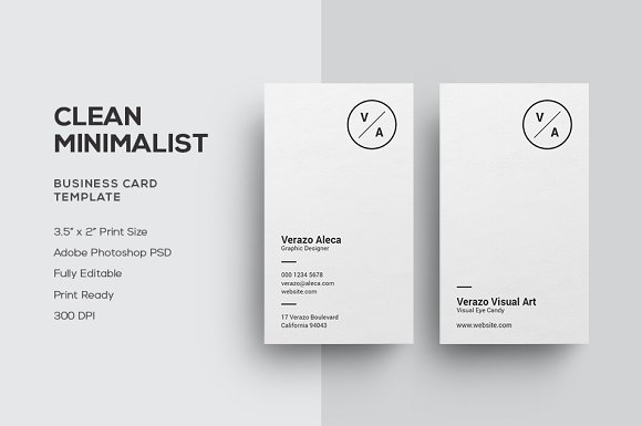 Clean minimalist business card business card templates creative clean minimalist business card business card templates creative market fbccfo Choice Image