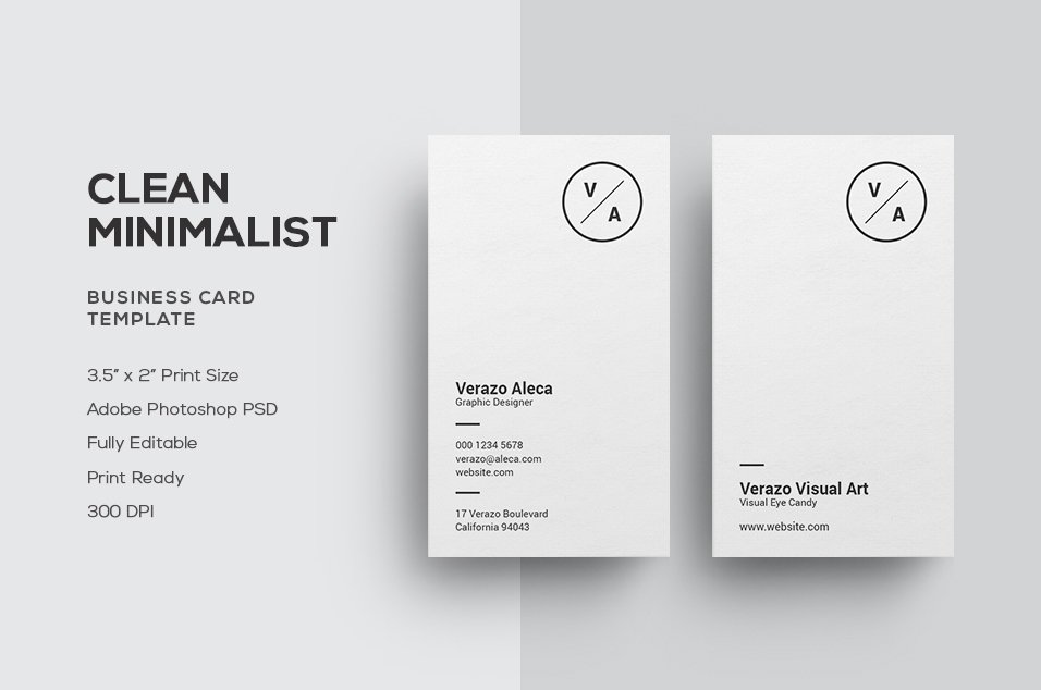 Clean Minimalist Business Card ~ Business Card Templates ~ Creative ...