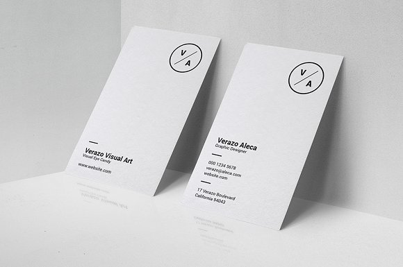 Clean Minimalist Business Card Templates Creative Market