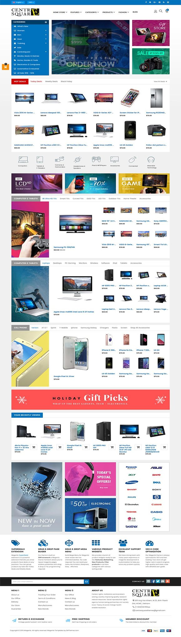 Shopping Center Magento 1 2 Theme