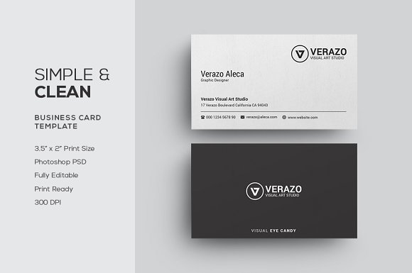 Simple clean business card business card templates creative market accmission Choice Image