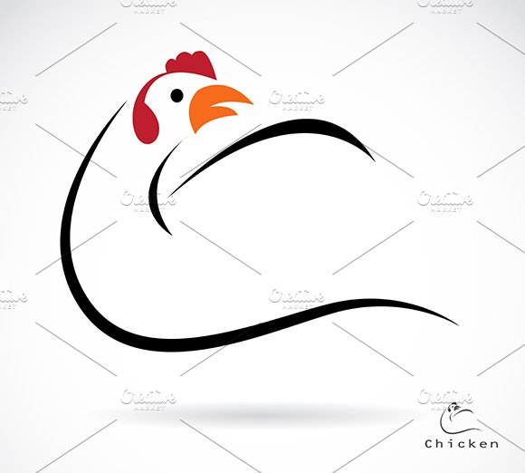 Vector Of A Cock Icon