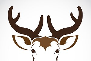 Vector illustration of deer symbol.