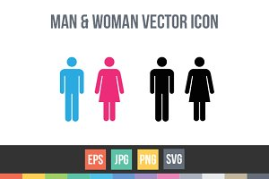 Male and female symbol signs vector