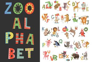 Zoo alphabet for children