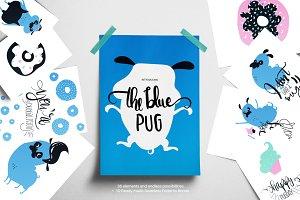 The blue pug
