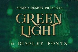 Green Light - Vintage Style Font