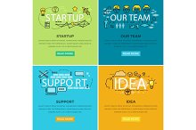 Our Team Startup and Idea Support Web Poster.