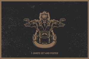 Motorcycle t-shirts and poster