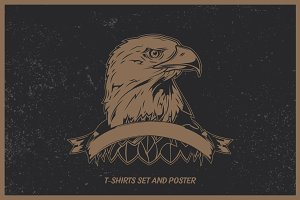 Eagle t-shirts and poster