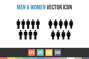 Male and female symbols sign Vector