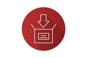 Box packing icon. Vector
