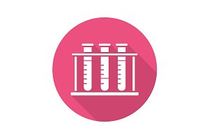 Test tubes rack icon. Vector