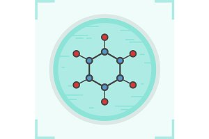Molecule icon. Vector