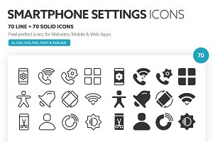 Smartphone Settings Icons