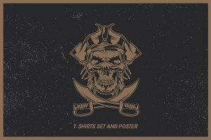 Pirates t-shirts and poster