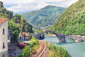 Railroad bridge in Italy