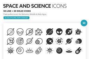 Space and Science Icons