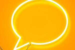 Neon speech bubble
