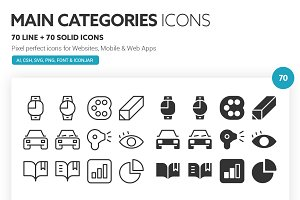 Main Categories Icons