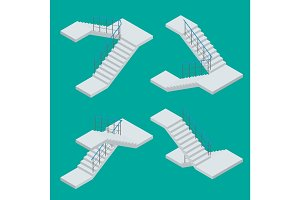 Isometric staircase.