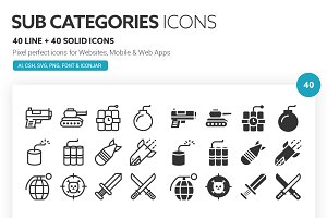 Sub Categories Icons
